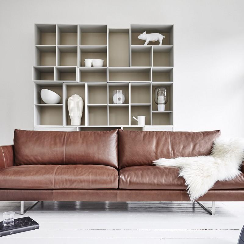 montis sofa axel leder. Black Bedroom Furniture Sets. Home Design Ideas